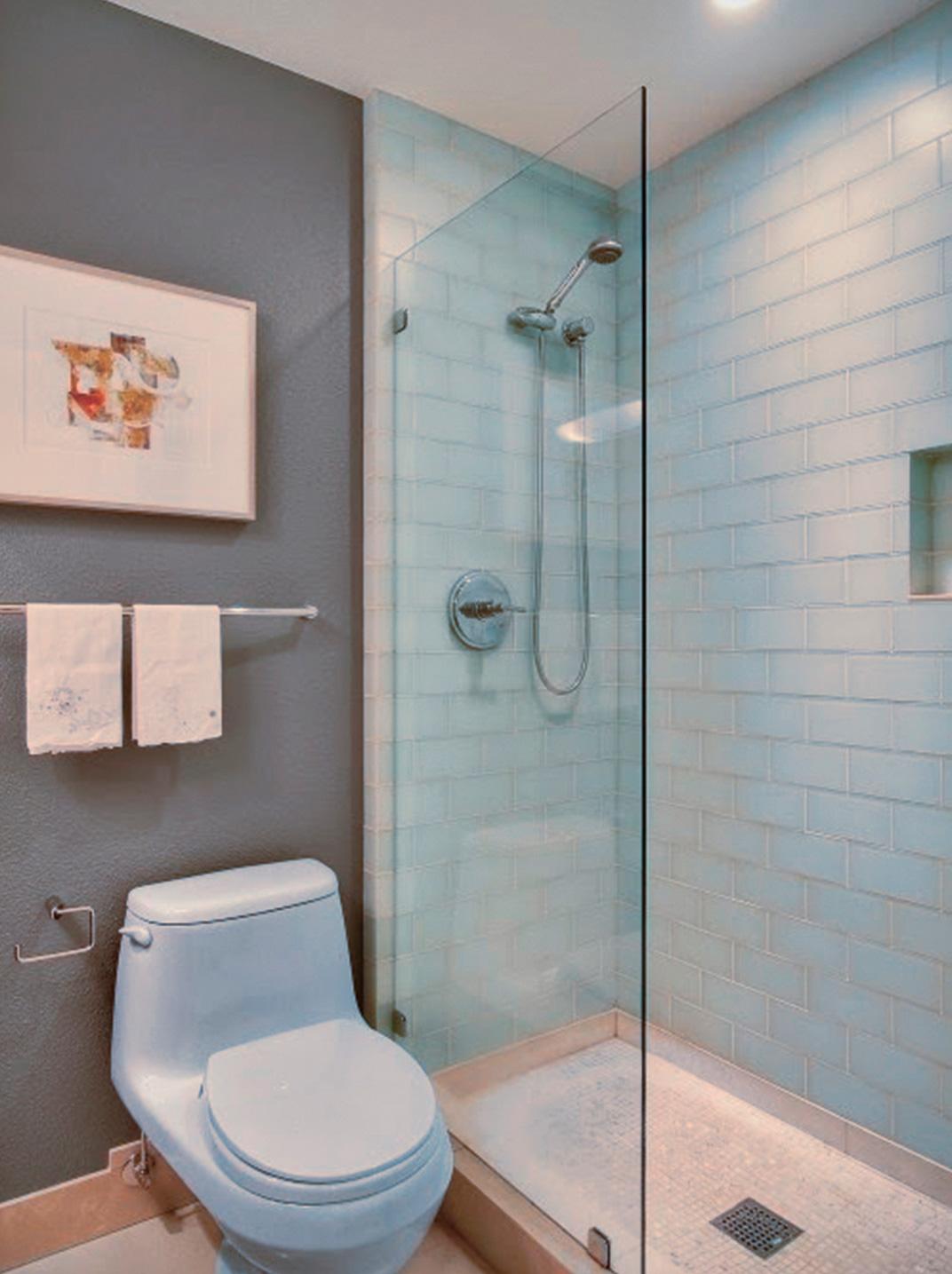 Дизайн ванных комнат с душевой перегородкой